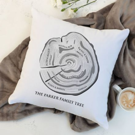 Personalised Family Tree Trunk Cushion